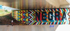 Grafite de Criola, ocupante do Ed. Almeida
