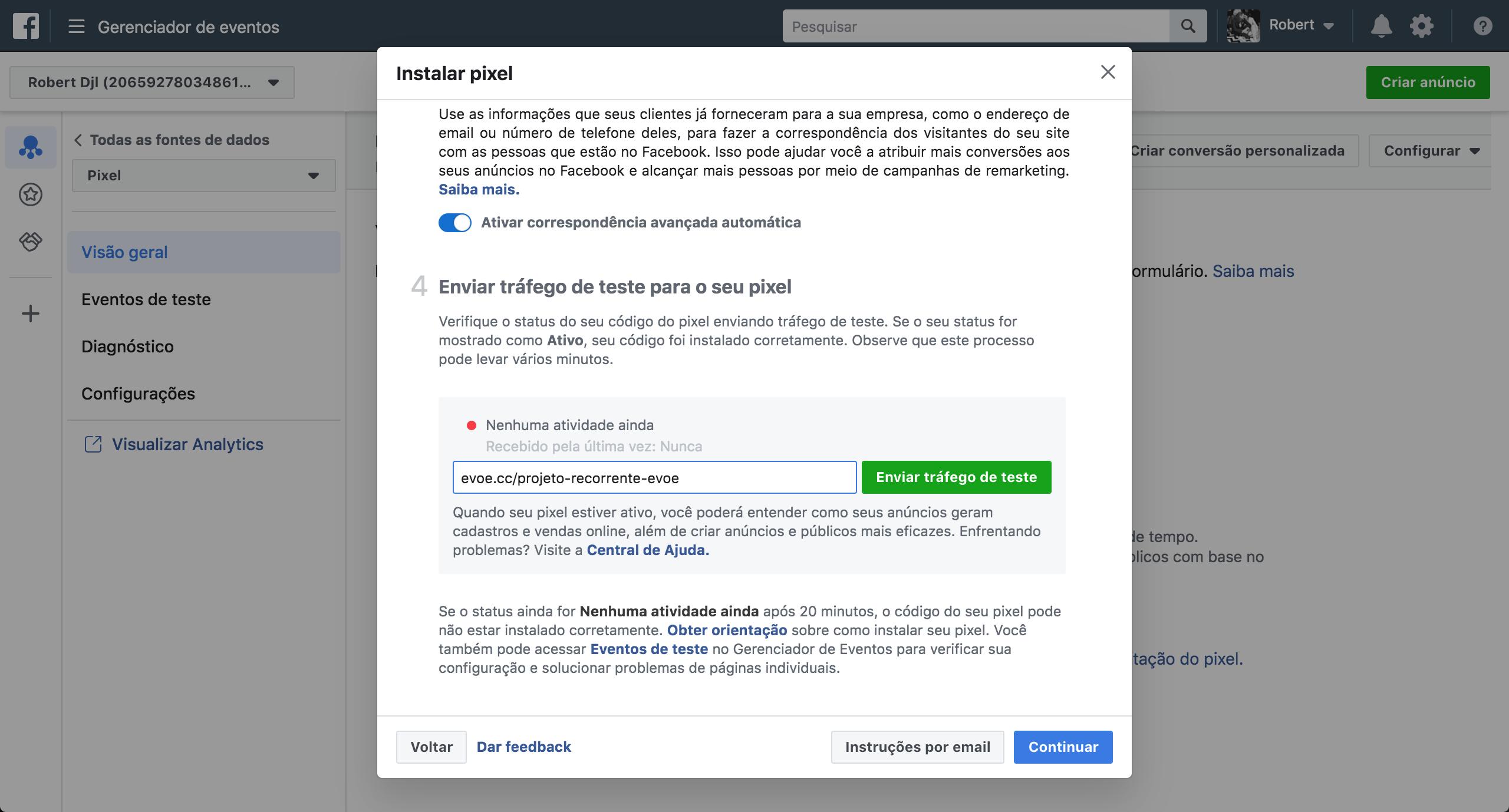 gerenciador-de negocios pixel facebook