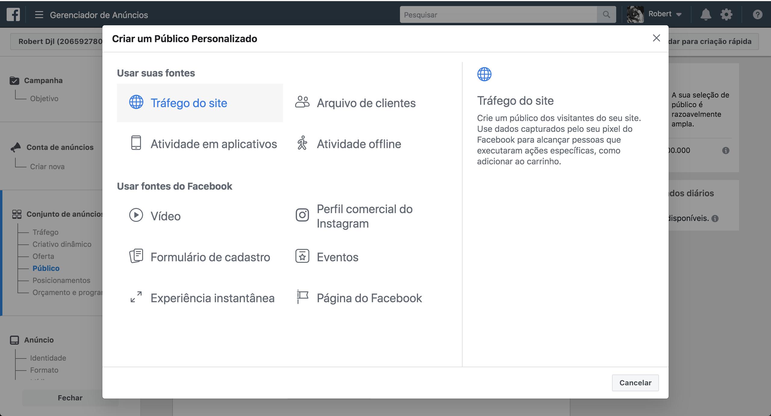 gerenciador de negocios pixel facebook