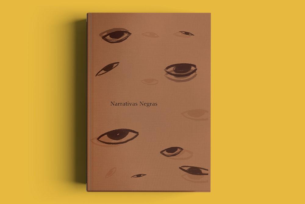 livro narrativas negras sobre fundo amarelo projeto de crowdfunding da EVÓE